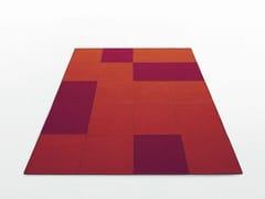 Tappeto rettangolare in feltro QUADRI | Tappeto rettangolare - Feltro