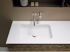 Lavabo in Corian® con piano QUADRO 55 -