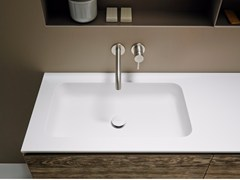 Lavabo in Corian® con piano QUADRO 65 -