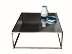 Tavolino basso quadrato in vetro QUADRO | Tavolino in vetro - Quadro