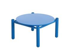 Tavolino laccato rotondo in legno QUADRO | Tavolino laccato -