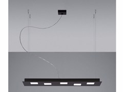 Lampada a sospensione a LED a luce diretta e indiretta in alluminio QUARTER | Lampada a sospensione a LED - Quarter