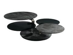 Tavolino rotondo in vetroceramicaQUARTET | Tavolino - ROCHE BOBOIS