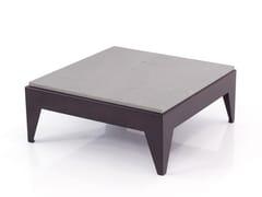 Tavolo con base in acciaio e top in quarzoLOW | Tavolino in quarzo - INOX DESIGN DI SARAGGI ENNIO