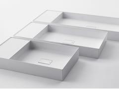 Lavabo rettangolare in Ceramilux® QUATTRO.ZERO – D8H - Quattro.Zero