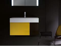 Mobile lavabo sospeso in legno con cassetti QUATTRO.ZERO | Mobile lavabo - Quattro.Zero