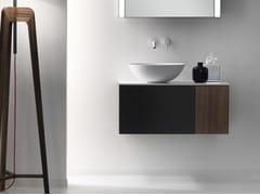 Mobile lavabo sospeso in legno con cassetti QUATTRO.ZERO | Mobile lavabo in legno - Quattro.Zero