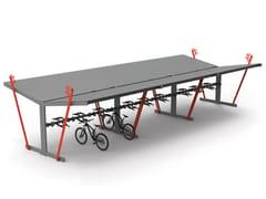 Pensilina in acciaio per bicicletteQUERT - CITY DESIGN