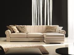 Divano componibile in velluto con chaise longueQUINCY | Divano con chaise longue - FORMER IN ITALIA