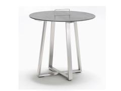 Tavolino da giardino di servizio rotondo in ceramica R-SERIES | Tavolino rotondo - R-Series