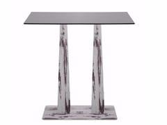 Tavolo rettangolare con base in acciaio effetto legno R30 PIRA | Tavolo rettangolare -