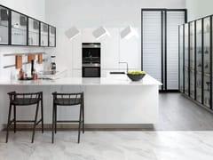 Cucina componibile in derivati del legno in stile moderno con maniglie integrate con penisolaR4.70 - GAMADECOR - PORCELANOSA GRUPO