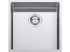 Lavello a una vasca da incasso in acciaio inoxRAGGIO 12 316 1QR406 - BARAZZA