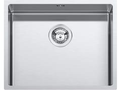 Lavello a una vasca da incasso in acciaio inoxRAGGIO 12 316 1QR506 - BARAZZA