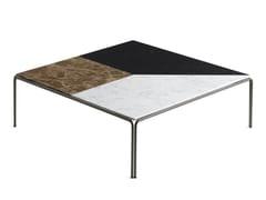 Tavolino quadrato da salotto da caffè in marmoRAGTIME | Tavolino quadrato basso - HORM ITALIA