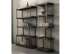 Libreria a giorno bifacciale in legnoRAIN - BONALDO