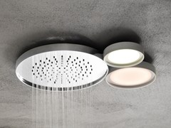 Soffione doccia a pioggia a soffitto con illuminazione NINFEA | Soffione doccia a pioggia - Ninfea