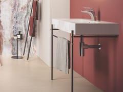 Lavabo a consolle in ceramica con porta asciugamaniRAK-DES | Lavabo a consolle - RAK CERAMICS