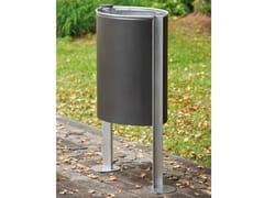 Portarifiuti in acciaio zincato con portacenereRAMBLA | Portarifiuti con portacenere - URBIDERMIS