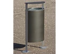 Portarifiuti in acciaio zincato con coperchioRAMBLA | Portarifiuti con coperchio - URBIDERMIS