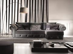 Divano componibile in velluto con chaise longueRAMON PLUS | Divano con chaise longue - FORMER IN ITALIA