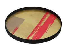 Vassoio rotondo in vetro RASPBERRY COMPOSITION - Bright Abstract