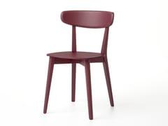 Sedia in legno massello con schienale apertoRAVA | Sedia - ALBAPLUS BY METALMECCANICA ALBA