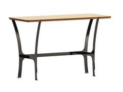 Consolle rettangolare in legno con base in metalloRAVEL | Consolle - ERSA MOBILYA