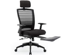 Sedia ufficio girevole in rete con poggiatestaRC-3001E - UE FURNITURE CO.