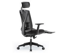 Sedia ufficio girevole in rete con poggiatestaRC-3003E - UE FURNITURE CO.