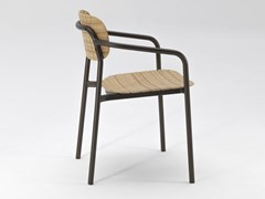 Sedia in alluminio e legnoRE-WOOD | Sedia - EMU GROUP