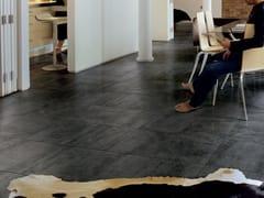 Pavimento/rivestimento in gres porcellanato effetto metalloREACTION BLACK - CERAMICHE MARCA CORONA