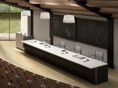 Tavolo da conferenza rettangolare in legnoCONFERENCE - BRALCO