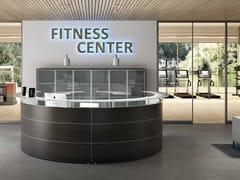 Banco reception per ufficio modulare in legnoFITNESS - BRALCO