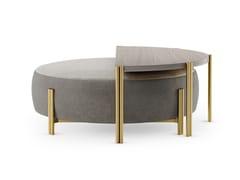 Tavolino rotondo in legno e ottoneRECIFE - FRATO