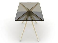 Tavolino alto rettangolare in acciaio e vetroDEAN | Tavolino alto - GABRIEL SCOTT