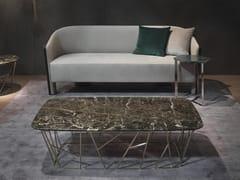 Tavolino basso rettangolare in marmoTWIG | Tavolino rettangolare - GIULIO MARELLI ITALIA