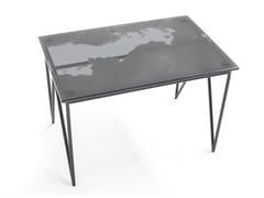 Tavolino rettangolare in acciaio e cristalloAEROZEPPELIN | Tavolino rettangolare - MOROSO