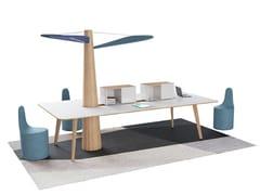 Tavolo da riunione rettangolare BAOBAB | Tavolo da riunione rettangolare - Baobab