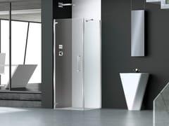 Box doccia angolare in vetro con porta a battentePRISMA 1.0 | Box doccia rettangolare - MEGIUS