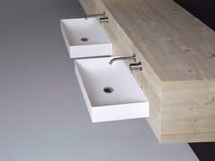 Lavabo rettangolare sospeso in Flumood® STRATOS | Lavabo rettangolare - Stratos