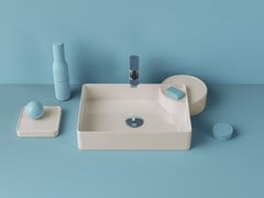 Lavabo da appoggio rettangolare in ceramicaCARTESIO | Lavabo rettangolare - ARTCERAM