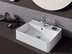 Lavabo da appoggio rettangolare in ceramica SEMPLICE | Lavabo rettangolare - Semplice