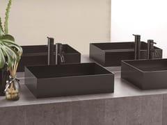 Lavabo da appoggio rettangolare in acciaio inoxASSE 500 - SANWA COMPANY