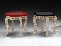 Tavolino in legno e vetro REGINA | Tavolino - Mirabili Arte d'Abitare