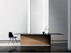 Tavolo rettangolare in legno e vetro REGOLO | Tavolo rettangolare - Regolo