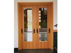Porta antipanico in legno e vetroREI 120 | Porta antipanico - SEBINO CHIUSURE