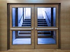 Porta antipanico in legno e vetroREI 60 | Porta antipanico in vetro - SEBINO CHIUSURE