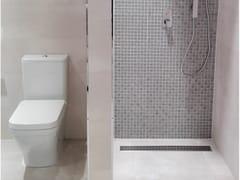 Porcelanosa, REJILLA LINEAL TEXTURE CHROME Scarico per doccia in acciaio inox