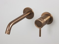 Miscelatore per lavabo a muro in acciaio inoxRÉTRO - 0281197X - SUPER INOX